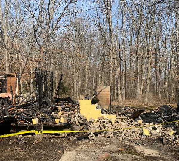 It started at Pennsylvania Avenue and Woodland Street in Newton Township.
