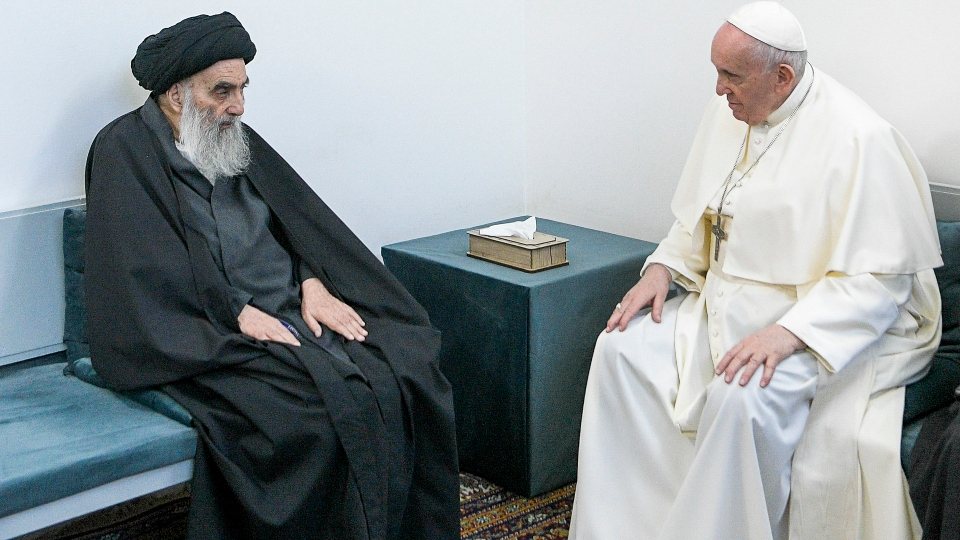 pope, shiite cleric historic meeting