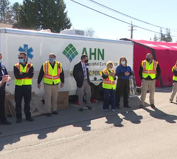 A personal protective equipment distribution in Grove City helped over 40 EMS agencies Tuesday.