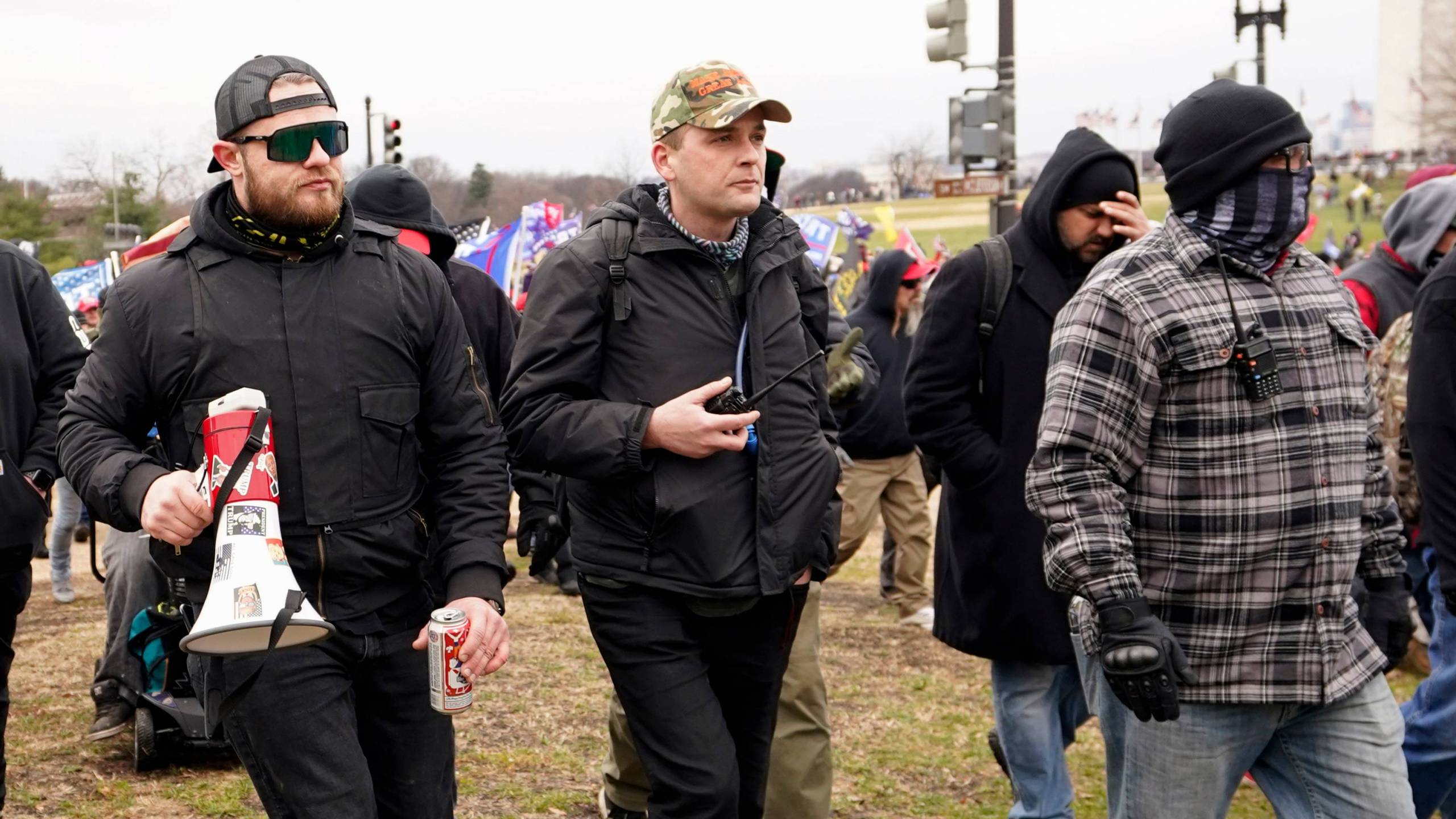 Four men described as leaders of the far-right Proud Boys have been charged in the U.S. Capitol riots
