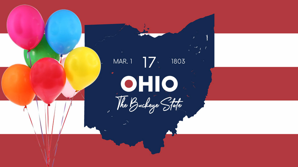 On March 1, 1803, Ohio was the 17th state to join the Union.