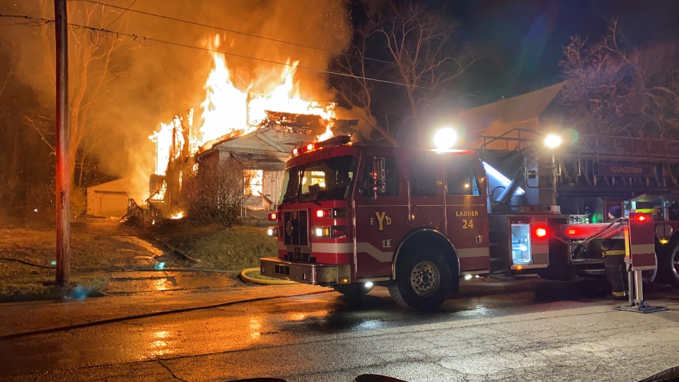 Vacant house fire on Marion Avenue in Youngstown