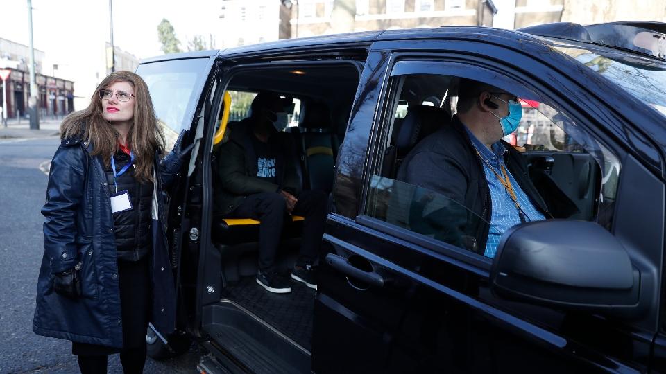vaxi taxi UK minority