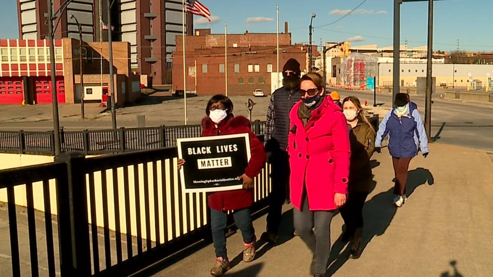 On Sunday, people in Youngstown crossed the Mahoning Avenue Bridge downtown to honor them and raise awareness for voting rights issues.