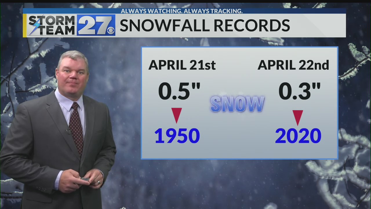 A daily record breaking snow possible Wednesday