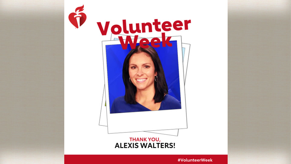 The American Heart Association is sending out a big thank you to First News Anchor Alexis Walters.