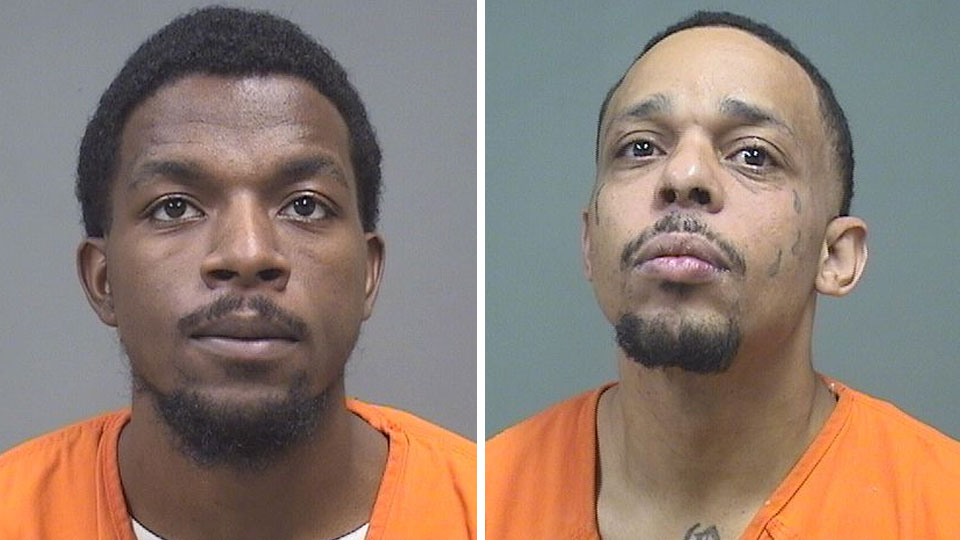 Antuan Fields and Chauncey Chandler, sentenced to prison for gun charges in Youngstown.