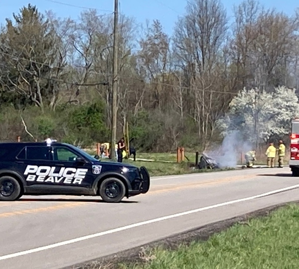 Crash on Woodworth Road in Beaver Township
