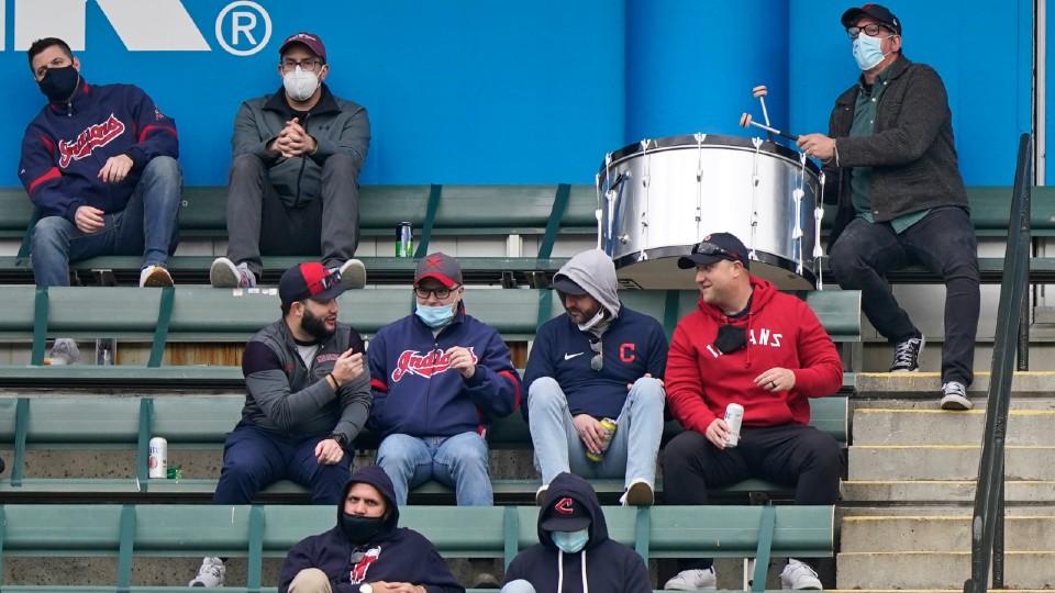 Black Keys drummer Patrick Carney at Indians game