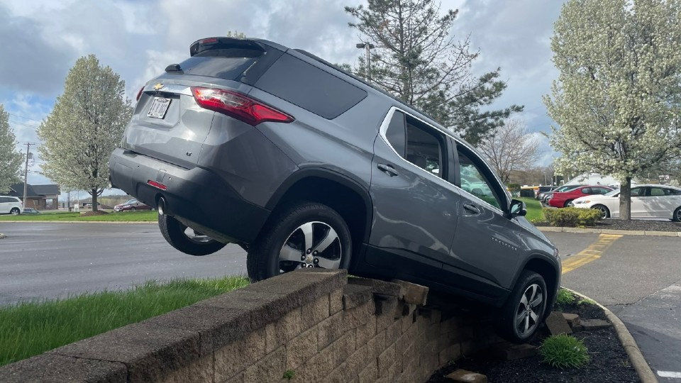 Car on wall at First National Bank in Boardman