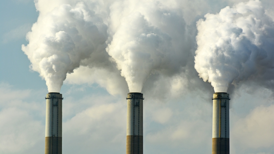 Carbon dioxide emissions, pollution, power plant