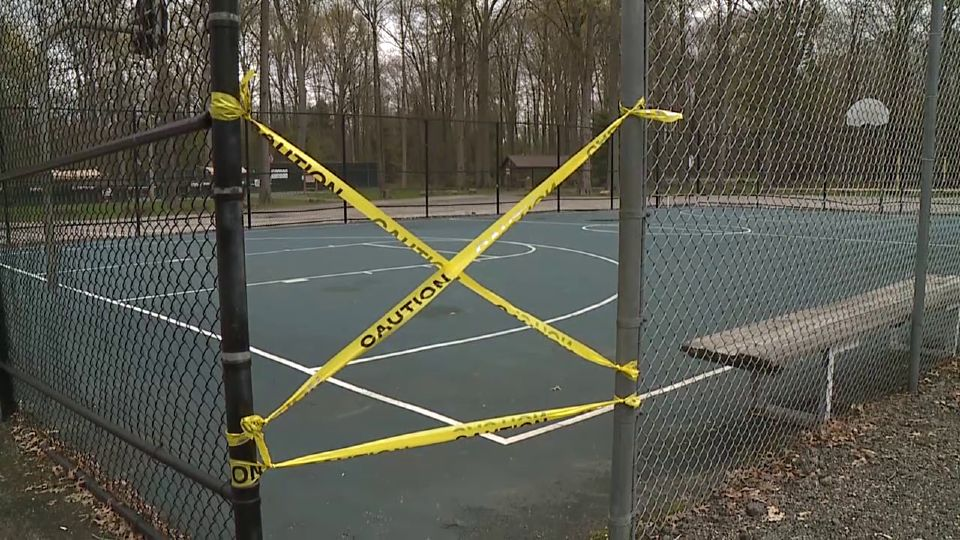 The basketball court at Willow Park in Cortland is closed because of an ongoing problem the city has been dealing with for months.