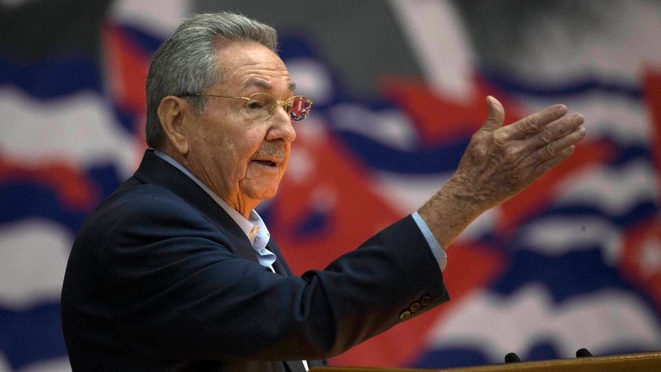 In this April 16, 2016 file photo, Cuba's President Raul Castro addresses the Cuban Communist Party Congress in Havana, Cuba.