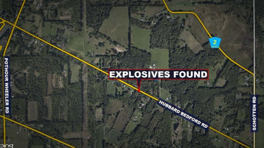 Explosives Found, Hubbard Township