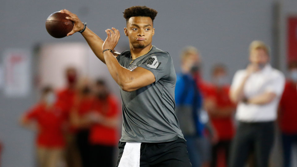 Former Ohio State quarterback Justin Fields