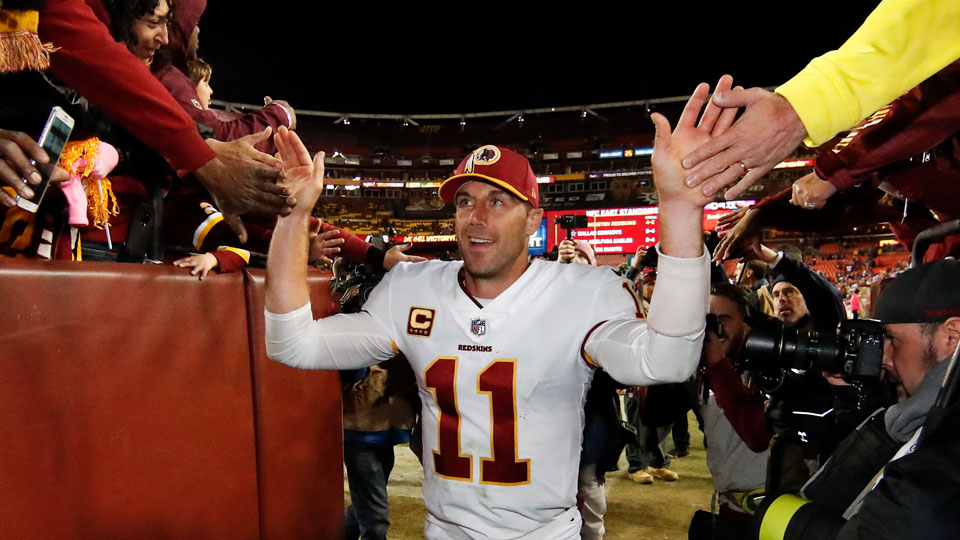 Former Washington Football Team quarterback Alex Smith