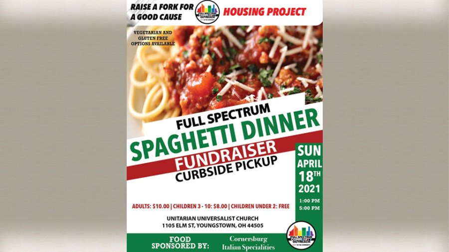 Full Spectrum Community Outreach is hosting a spaghetti dinner to raise money for their housing project.