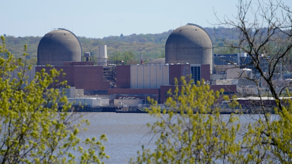 Indian Point Energy Center is seen on the Hudson River in Buchanan, N.Y., Monday, April 26, 2021.