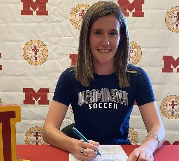 Mackenzie Avedry, signs letter of intent Westminster soccer