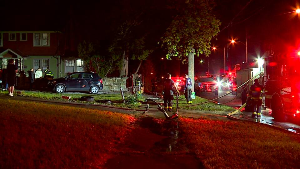 No one was hurt in a duplex fire just north of Youngstown State University's campus Saturday night.