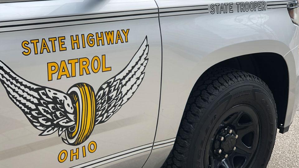 Ohio State Highway Patrol car, state trooper