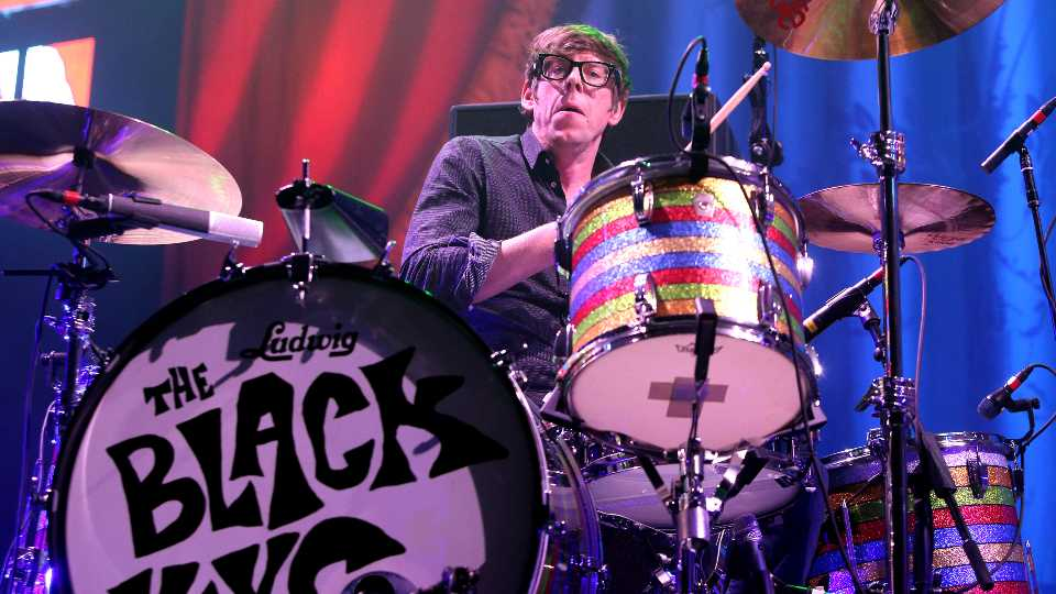 """Patrick Carney of the band The Black Keys performs in concert during their """"Turn Blue Tour 2014"""" on Thursday, Dec. 4, 2014, in Baltimore. ("""