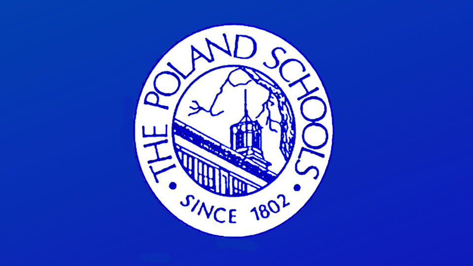 Poland Local Schools logo, blue background, generic