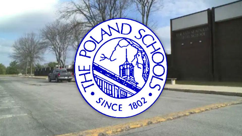 Poland Local Schools logo, Poland High School background