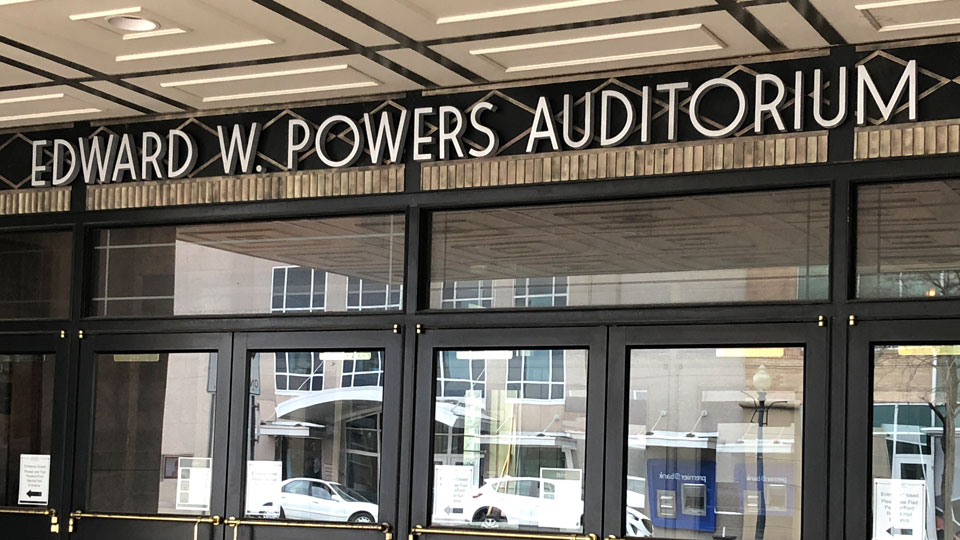 Edward W Powers Auditorium in Downtown Youngstown