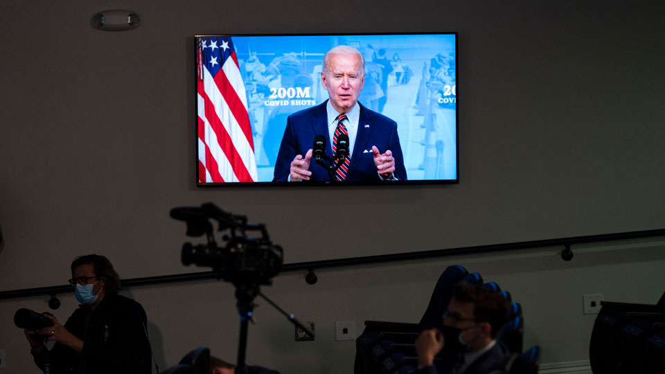 President Joe Biden speaks about COVID-19 vaccinations at the White House, Wednesday, April 21, 2021