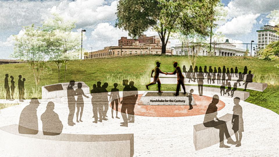 The unveiling and dedication of the Robinson-Shuba commemorative Statue has been scheduled for Saturday, July 17, as part of the Youngstown State University Summer Festival of the Arts in Wean Park.