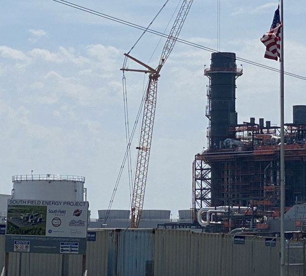 Construction is expected to be done at the South Field Energy Facility in Wellsville by the end of the year.