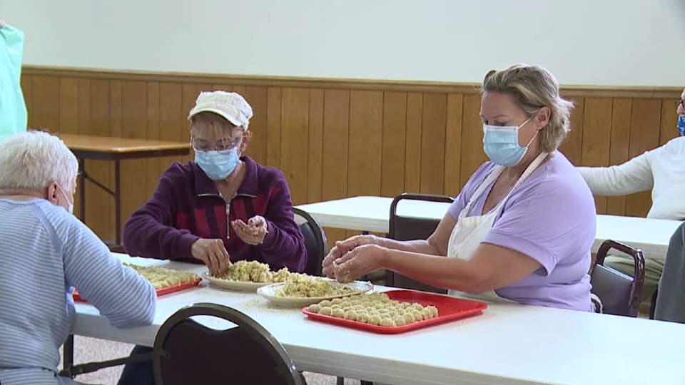 St. Elizabeth Ann Seton in Warren pierogi sale preparations