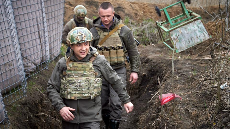 Ukrainian President Volodymyr Zelenskyy visits the war-hit Donbas region, eastern Ukraine