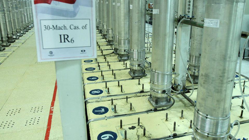 Atomic Energy Organization of Iran, shows centrifuge machines in the Natanz uranium enrichment facility in central Iran
