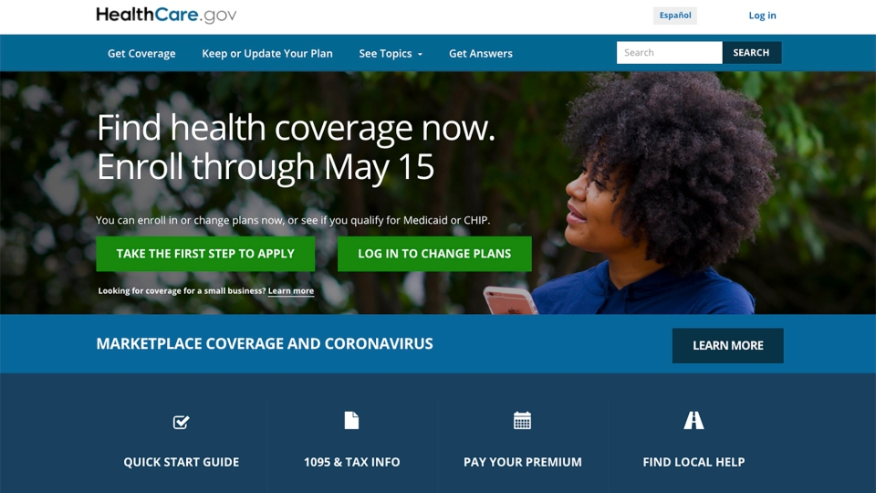 In this Feb. 15, 2021, file image shows the main page of the HealthCare.gov website.