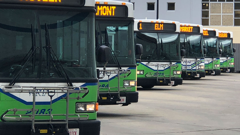 WRTA bus station in downtown Youngstown