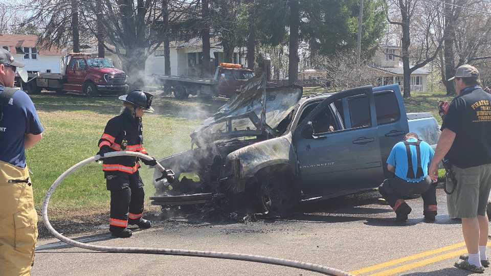 State Route 45 vehicle fire Yellow Creek