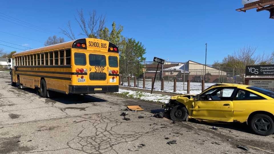 A Youngstown City Schools bus was involved in a crash Tuesday morning.