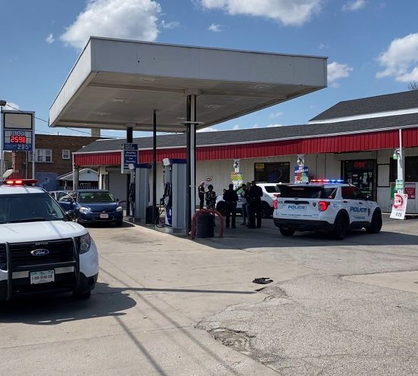 No one was injured after several shots were fired about 2 p.m. Wednesday at a lower Mahoning Avenue gas station.