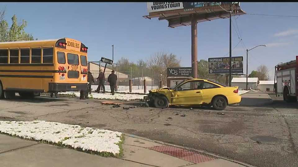 A school bus was involved in a crash Tuesday morning in Youngstown.