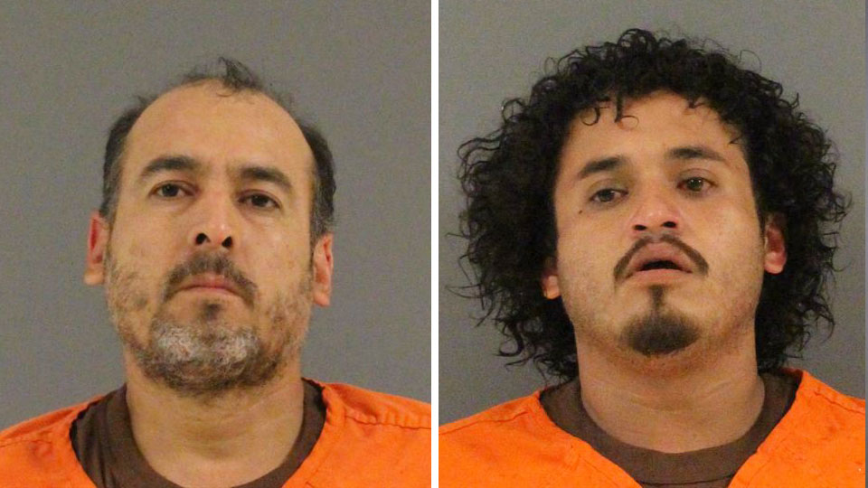 Alvaro Elenes, 44, and Gabriel Garcia, 26, facing drug charges after traffic stop in Mercer County.