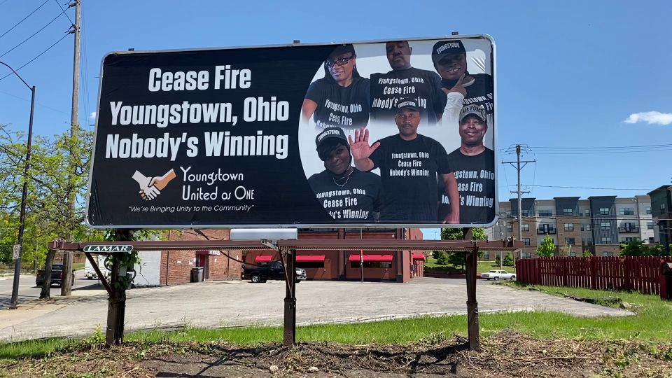 Anti-violence billboards are going up around Youngstown.