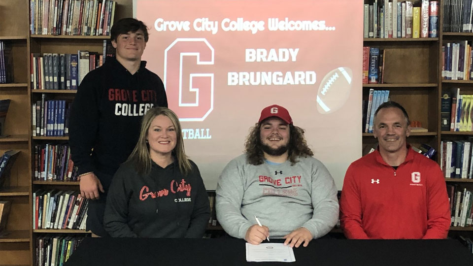 Brady Brungard, signs letter of intent to Grove City