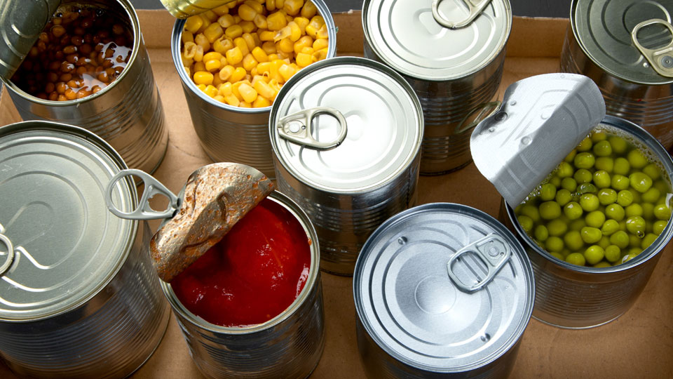 Canned goods, food pantry, donations
