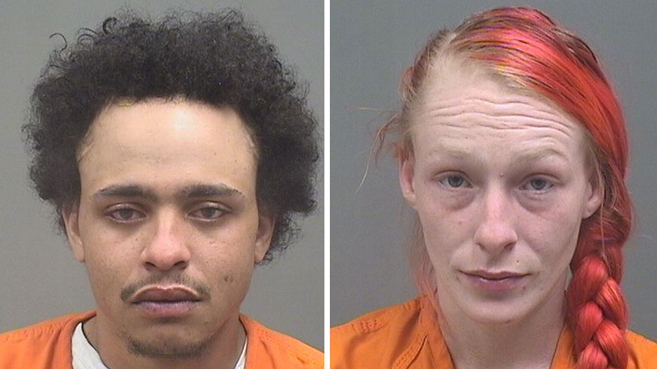 Brittany Scott and Christopher Moore, charged with drug trafficking in Boardman.