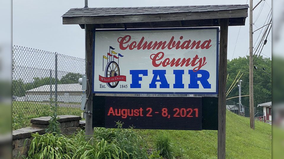The Columbiana County Commissioners are seeking bids to repair damage done as a result of high-traffic from vaccine clinics at the fairgrounds