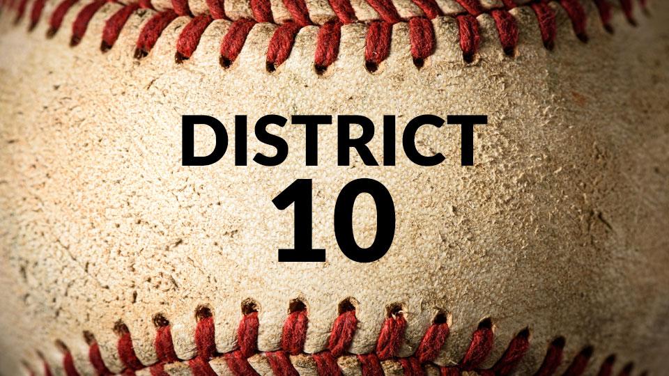 District 10, baseball, generic