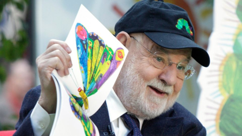 """Eric Carle, the beloved children's author and illustrator whose classic """"The Very Hungry Caterpillar"""" and other works gave millions of kids some of their earliest and most cherished literary memories, has died at age 91."""