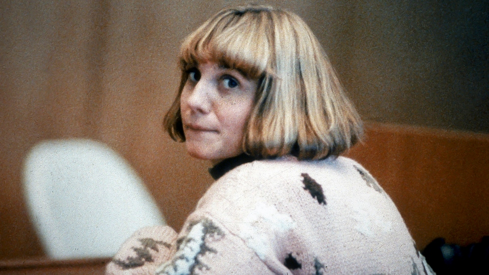 This Jan. 22, 1991 file photo shows ex-school teacher Carolyn Warmus during trial in Westchester County Court, in White Plains, N.Y.